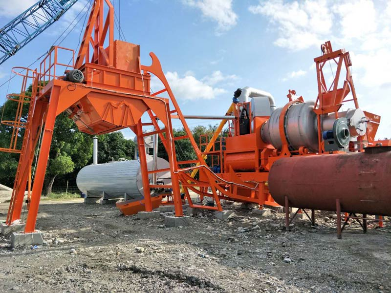 AIMIX 60 asphalt mixing plant installed in the Philippines