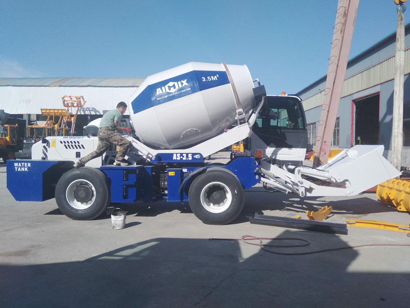 AIMIX AS3.5B mobile concrete mixer sent to Uzbekistan