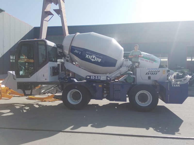 AIMIX AS3.5B self loading concrete mixer sent to Uzbekistan