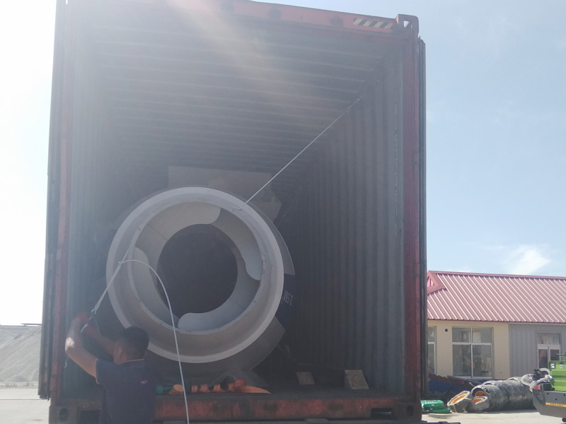 AIMIX AS3.5B self loading mixer sent to Uzbekistan loaded