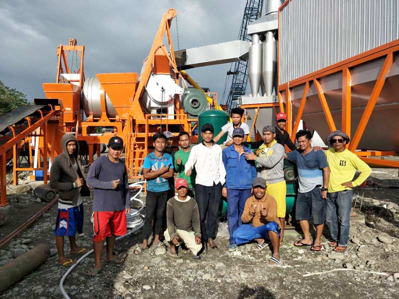 ALYJ60 asphalt mixing plant in the Philippines