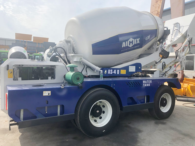 AS4.0 self loading concrete mixer sent to Germany