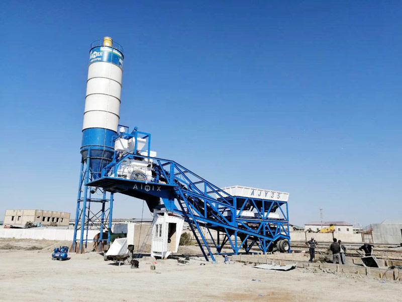 35 mobile batch plant set in Uzbekistan