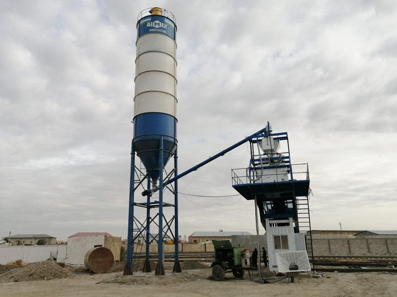 35 mobile batching plant set in Uzbekistan