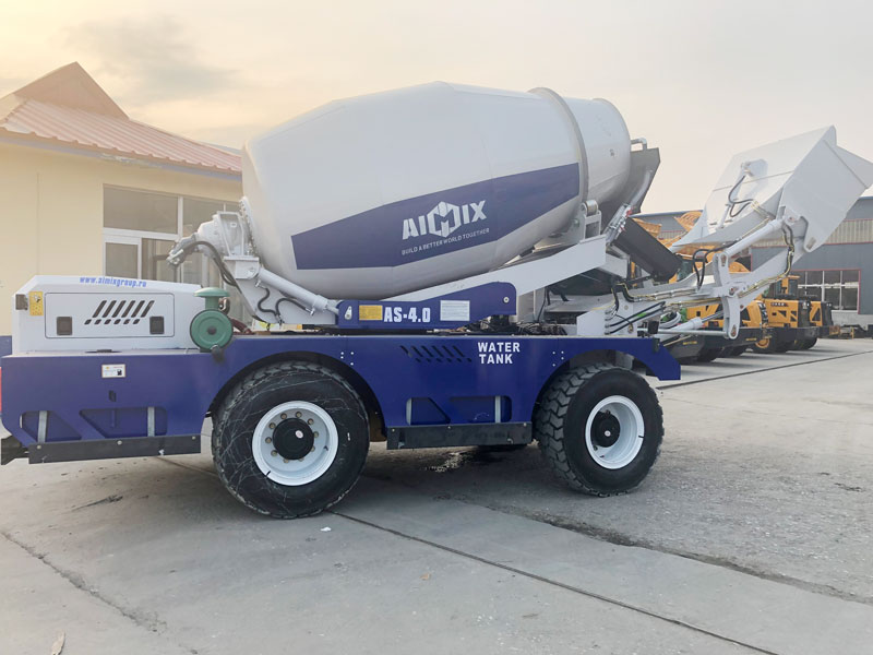 AS4.0 self load concrete mixer sent to Russia