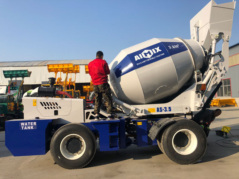 3.5C self load mixer sent to the Philippines