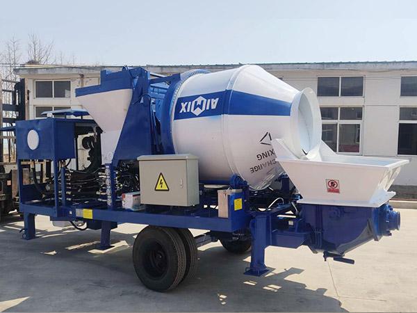 ABJZ30C diesel concrete mixer with pumps