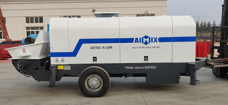 ABT80C concrete pump sent to Russia