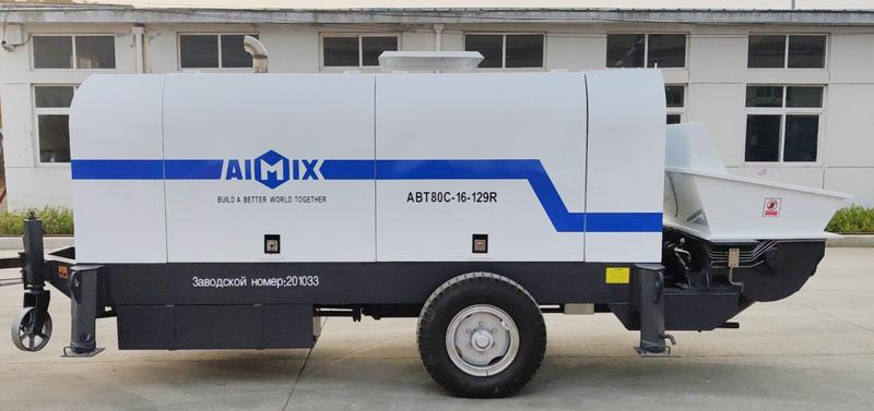 AIMIX ABT80C diesel concrete pump sent to Russia