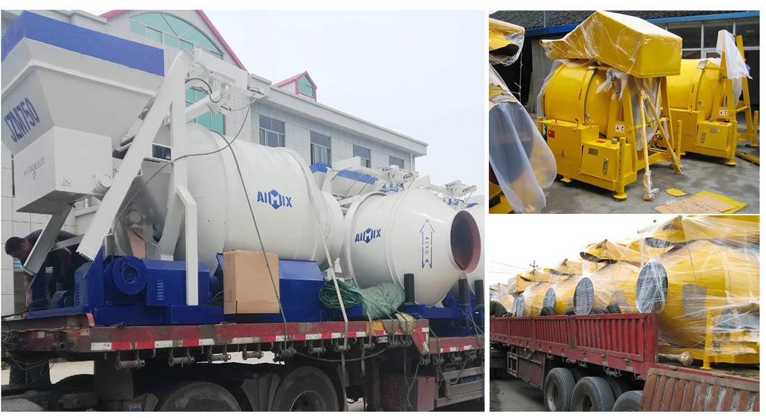 AIMIX drum concrete mixer exported