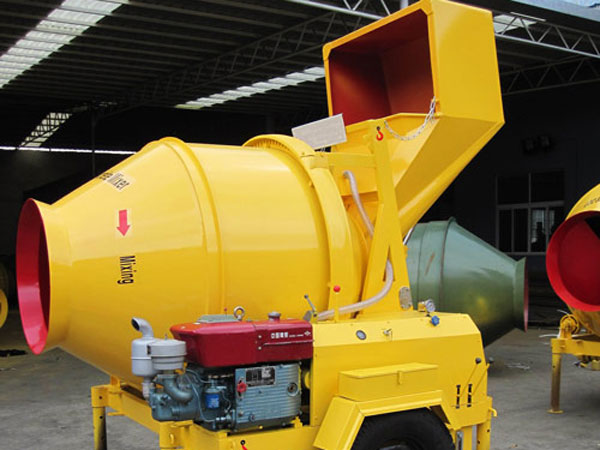 JZR350B tilting drum concrete mixer