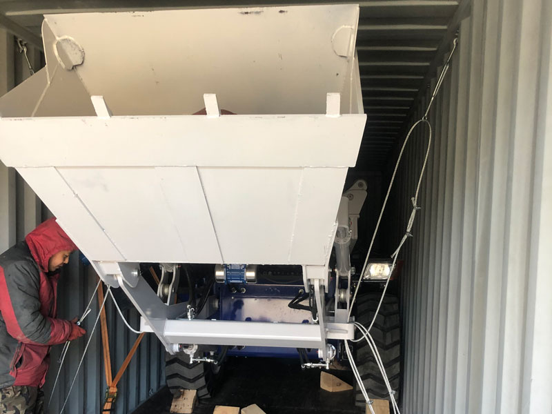 2.6m3 self loading mixer sent to Australia