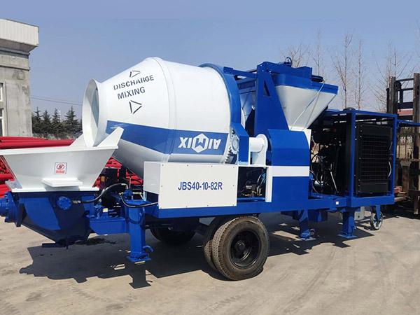 ABJZ40C diesel concrete mixer with pump