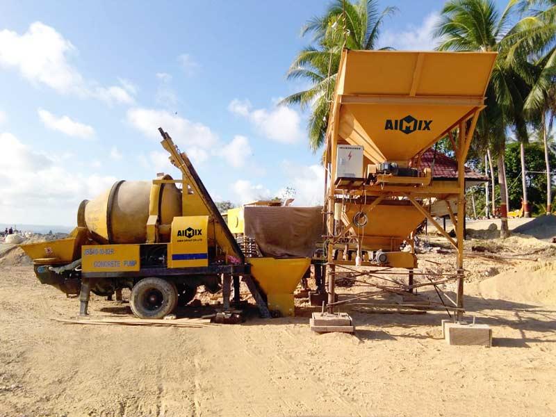 AIMIX concrete mixer pump in Indonesia