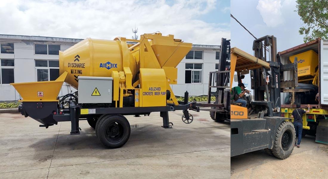 AIMIX concrete mixer pump sent to Jakarta Indonesia