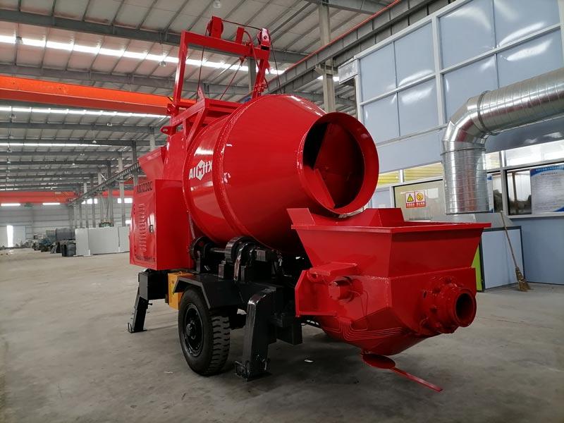 AIMIX diesel concrete mixer pump sent to Malaysia