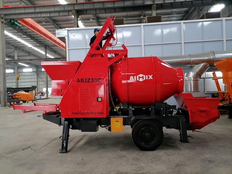 diesel concrete mixer pump sent to Malaysia