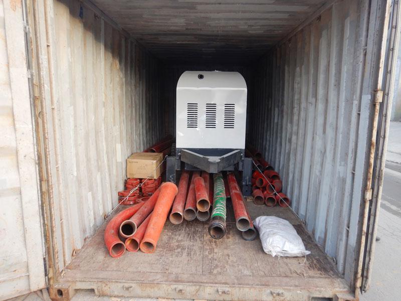 AIMIX ABT30C concrete pump sent to Indonesia