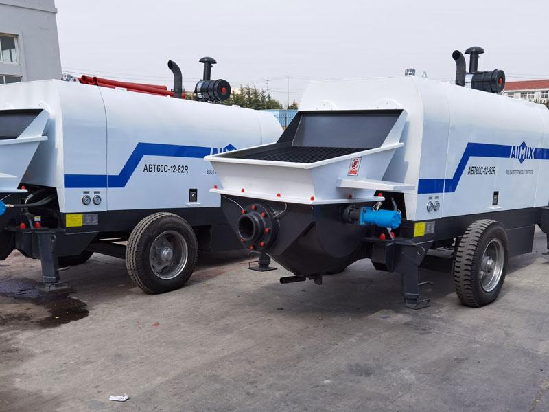 ABT60C diesel concrete pump exported
