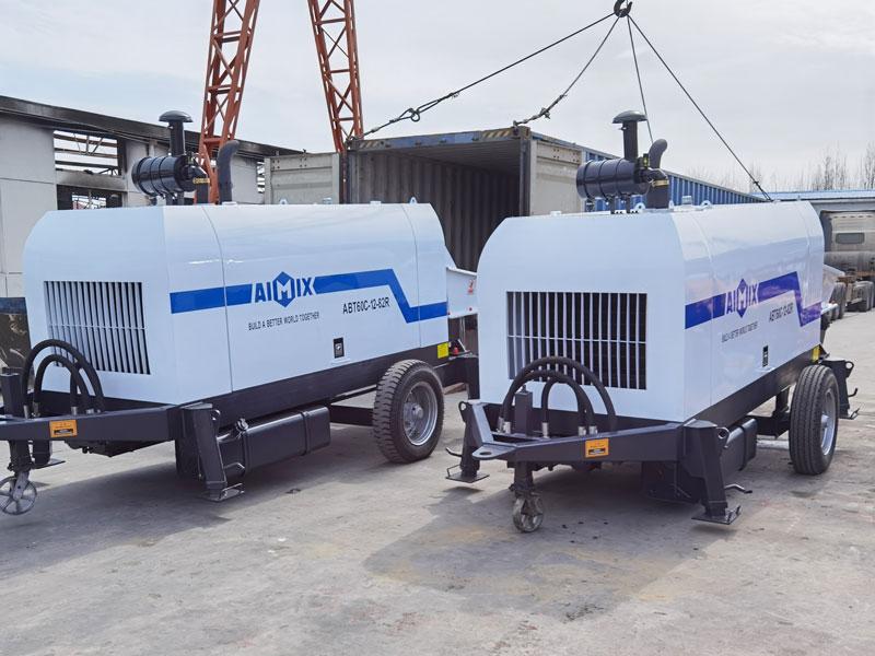 ABT60C diesel concrete pump loading