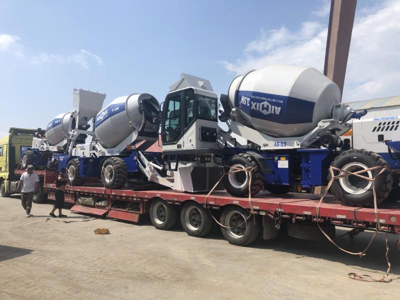 Aimix Self Loading Concrete Mixer Sent to Almaty